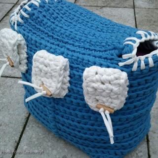 Boxtas blauw achterkant