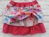 Dubbele rok met gerimpelde bovenlaag